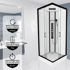 Insignia Monochrome 900 x 900mm Square Corner Shower Cabin - MC90SQ