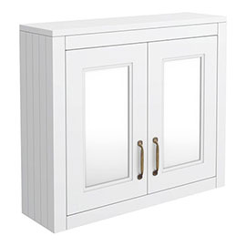 Chatsworth 690mm White 2-Door Mirror Cabinet