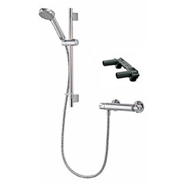 Aqualisa - Midas 100 Exposed Thermostatic Bar Valve with Slide Rail Kit & Easy Fit Bracket - MD100EBAR