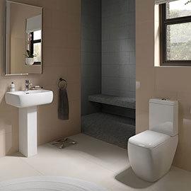 RAK Metropolitan Deluxe 4 Piece Suite - Deluxe WC & Basin