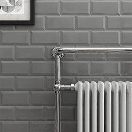 Victoria Metro Wall Tiles - Gloss Dark Grey - 20 x 10cm