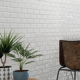 Victoria White Mini Metro Mosaic Tile - 291 x 296mm