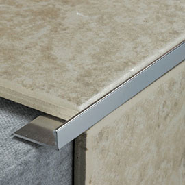Tile Rite 8mm L Shape Metal Tile Trim - Silver