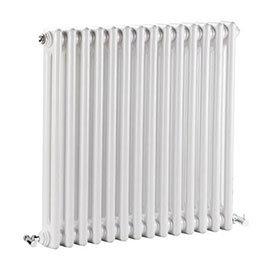 Nuie - Regency 2 Column Radiator - 600 x 650mm - White - MTY076