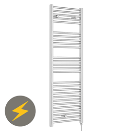Nuie H1375mm x W480mm Chrome Electric Only Ladder Rail - MTY152