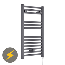 Premier H720mm x W400mm Anthracite Electric Only Ladder Rail - MTY153