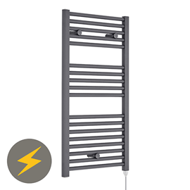 Nuie H920mm x W480mm Anthracite Electric Only Ladder Rail - MTY154