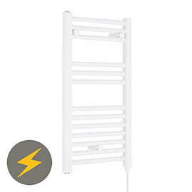 Nuie H720mm x W400mm White Electric Only Ladder Rail - MTY156
