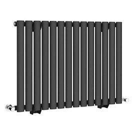 Metro Horizontal Radiator - Anthracite - Single Panel (600mm High)