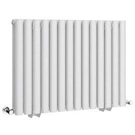 Metro Horizontal Radiator - White - Double Panel (600mm High)