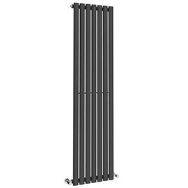 Metro Vertical Radiator - Anthracite - Single Panel (1600mm High)