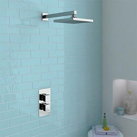 Milan Square Shower Package with Concealed Valve + Head