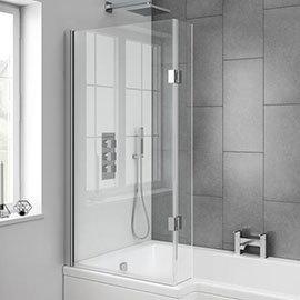 Milan Hinged L-Shaped Bath Screen
