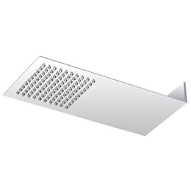 Milan Square Flat Fixed Shower Head (220 x 500mm)