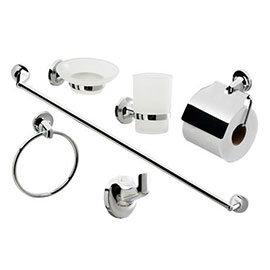 Modern 6 Piece Bathroom Accessory Set