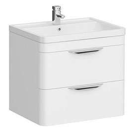 Monza Wall Hung 2 Drawer Vanity Unit with Basin W600 x D445mm