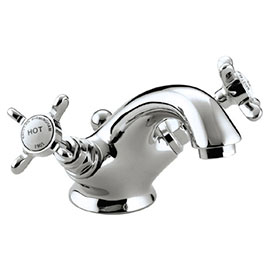 Bristan 1901 Traditional Basin Mixer Tap inc Pop-up Waste - Chrome - N-BAS-C-CD