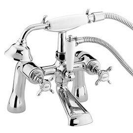 Bristan 1901 Pillar Bath Shower Mixer - Chrome Plated - N-BSM-C-CD