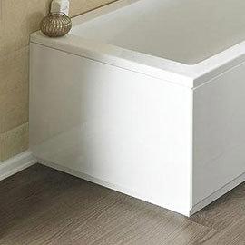 Nuie Gloss White MDF Bath End Panel