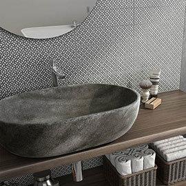 Novus Grey Decor Wall Tiles - 75 x 300mm