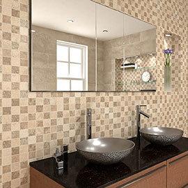 Nova Stone Mosaic Tile Sheet - 305 x 305mm