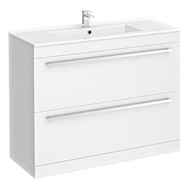 Nova 1000mm Vanity Sink With Cabinet - Modern High Gloss White