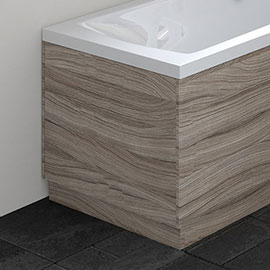 Hudson Reed Driftwood 750 End Straight Bath Panel - OFF271