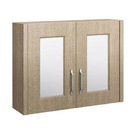 York Traditional Wood Finish 2 Door Mirror Cabinet (800 x 162mm)