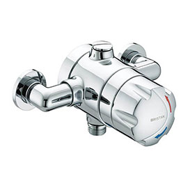 Bristan - Opac Thermostatic Exposed Shower Valve with Chrome Handwheel - OP-TS1503-EH-C