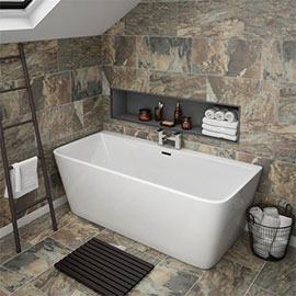 Orion Back To Wall Modern Square Bath (1700 x 735mm)