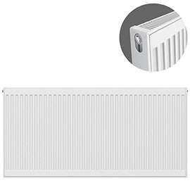Type 21 H600 x W1300mm Double Panel Single Convector Radiator - P613K