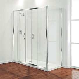 Coram - Premier Double Sliding Shower Door - Various Size Options
