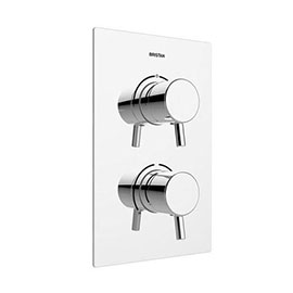 Bristan - Prism Thermostatic Recessed Dual Control Shower Valve with Integral Diverter - PM2-SHCDIV-C