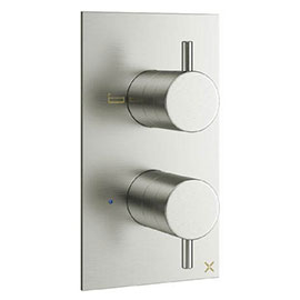 Crosswater MPRO Thermostatic Bath Shower Valve - Brushed Stainless Steel - PRO1500RV+