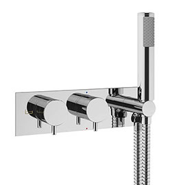 Crosswater MPRO Thermostatic Shower Valve with Handset - Chrome - PRO1701RC