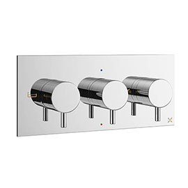 Crosswater MPRO Bath Shower Valve with 3 Way Diverter - Chrome - PRO3001RC