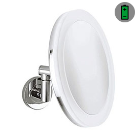 Crosswater MPRO Rechargeable Illuminated Round Cosmetic Mirror - PRO_MIRROR