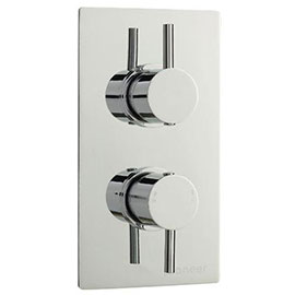 Pioneer Twin Concealed Thermostatic Shower Valve Round Handles - Chrome - PIOV41