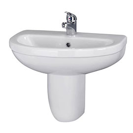 Nuie Caledon 555mm Basin with Semi Pedestal