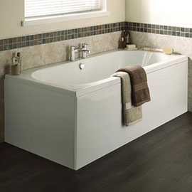 Nuie Otley Round Double Ended Bath (inc. Front + End Panel)