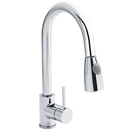 Ultra Side Action Pull Out Rinser Kitchen Tap - KC318