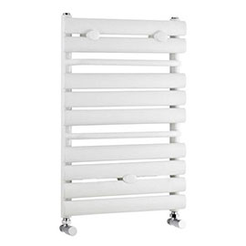 Premier - Vertical Heated Towel Rail - 650 x 445mm - White - MTY081