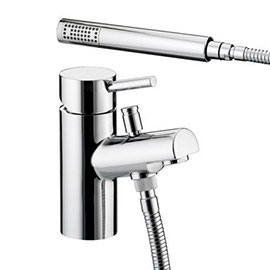 Bristan - Prism Contemporary 1 Hole Bath Shower Mixer - Chrome - PM-1HBSM-C