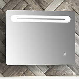 Quebec 650x500mm LED Mirror Inc. Touch Sensor, Anti-Fog + Shaving Port