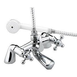 Bristan - Regency Pillar Bath Shower Mixer - Chrome Plated - R-BSM-C