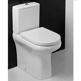 RAK - Compact Deluxe Fully BTW Rimless WC with Soft Close Seat - COMRIM45PAK