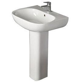 RAK - Tonique 55cm Basin 1th with Full Pedestal
