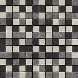 RAK - Lounge Mixed Porcelain Mosaic Unpolished Tile Sheet - 300x300mm - 7GPD-MOS-UP
