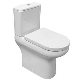 RAK Compact Deluxe Full Access (Open) Close Coupled Toilet with Soft Close Seat