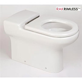 RAK - Compact Special Needs Extended Projection BTW Rimless Toilet - Seat Selection
